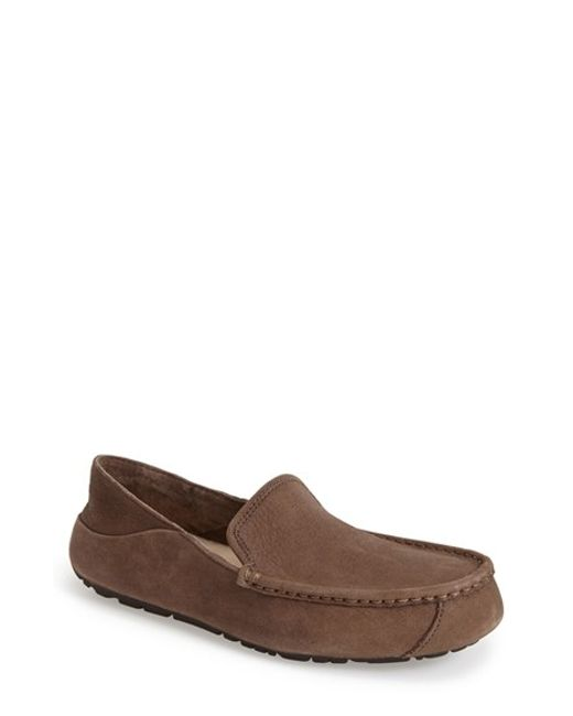 leather ugg loafers