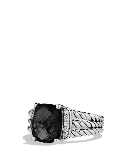 David Yurman | Petite Wheaton Ring With Black Onyx And Diamonds | Lyst