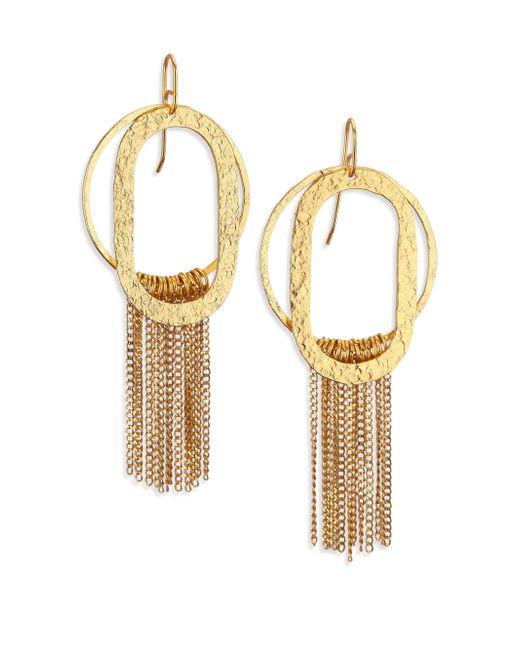 Stephanie Kantis | Metallic Paris Romance Double Loop Fringe Earrings | Lyst