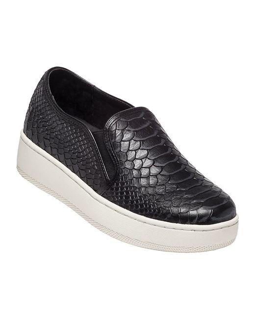 J Slides Jibbie Snake Embossed Slip On Sneakers In Black