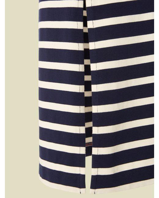 white stuff lola striped maxi skirt in multicolour navy