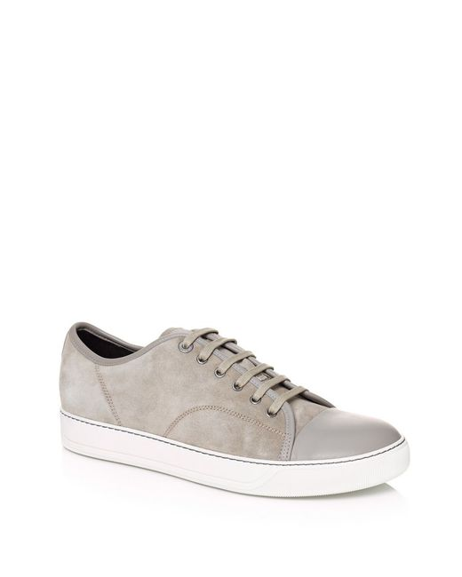 Lanvin   Natural Contrasted Toe Cap Sneakers for Men   Lyst
