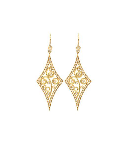 Annie Fensterstock | Metallic Diamond Shape Earrings | Lyst