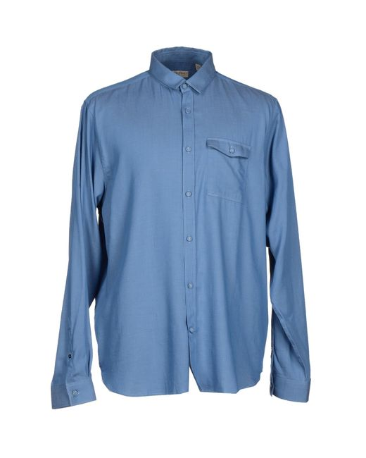 Burberry London Shirt In Blue For Men Pastel Blue Save