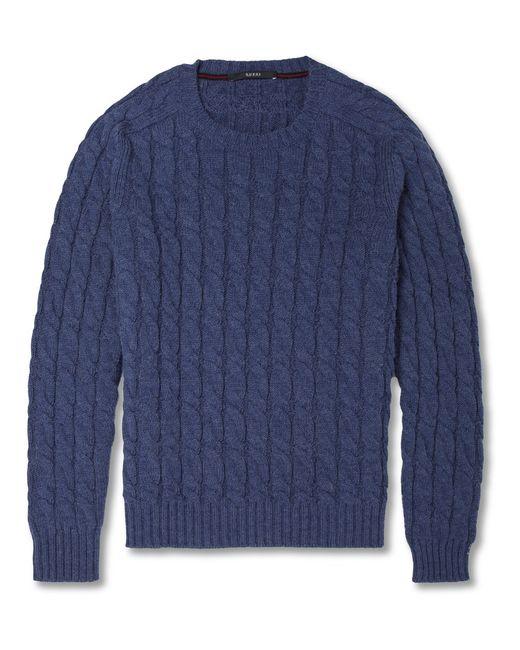 Gucci   Blue Appliquéd Wool Sweater for Men   Lyst