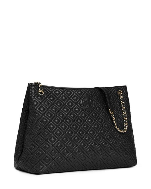 Tory Burch Marion Chainstrap Tote Bag In Black Lyst