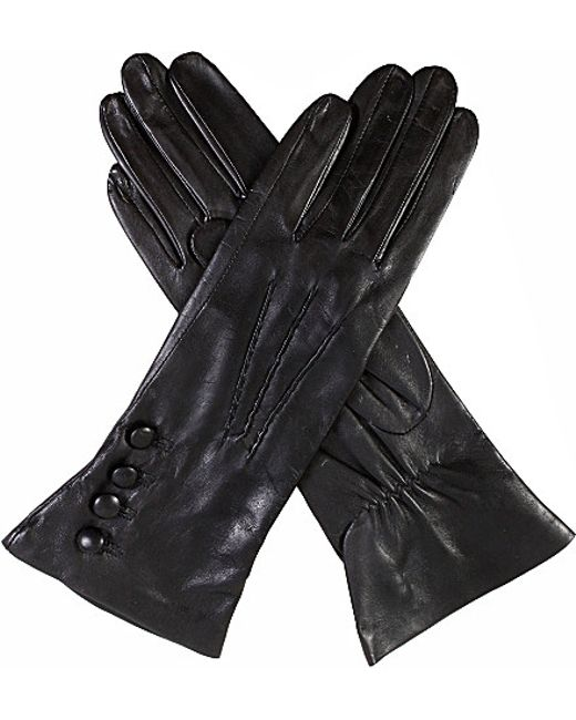 Dents | Black Silk-lined Leather Gloves | Lyst