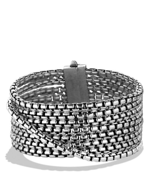 David Yurman | Metallic Box Chain Eight-row Bracelet, 32mm | Lyst