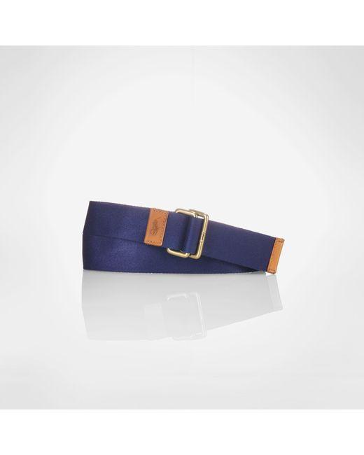 Polo Ralph Lauren | Blue Solid Class Belt for Men | Lyst