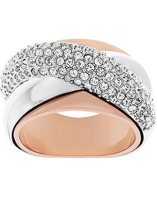Swarovski | Pink Wave Ring | Lyst