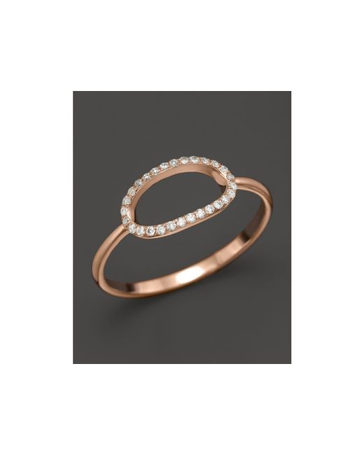 KC Designs | Pink Pave Diamond Oval Ring In 14k Rose Gold, .09 Ct. T.w. | Lyst