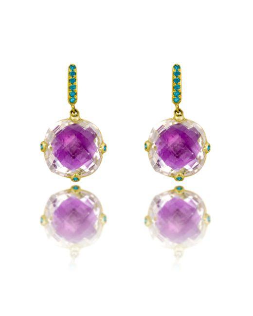 Larkspur & Hawk   Purple Halley Fancy Earrings   Lyst