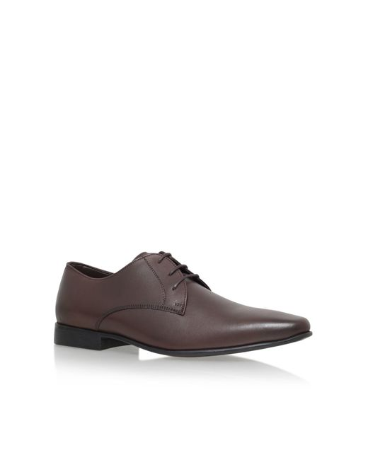 kg by kurt geiger edmonton lace up formal shoes in brown
