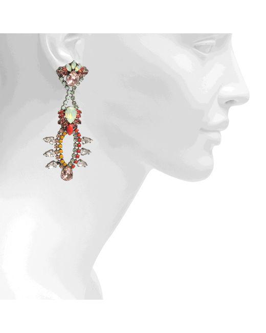 Anton Heunis | Orange Katrina Chandelier Crystal Earrings | Lyst