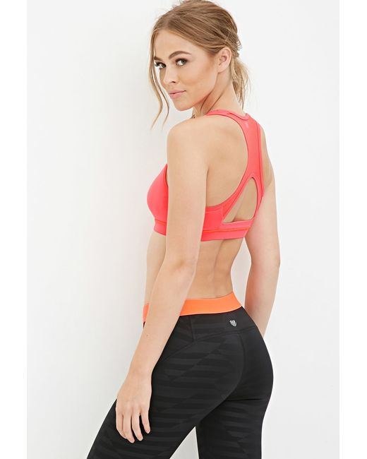 Forever 21 | Red High Impact - Mesh Back Sports Bra | Lyst