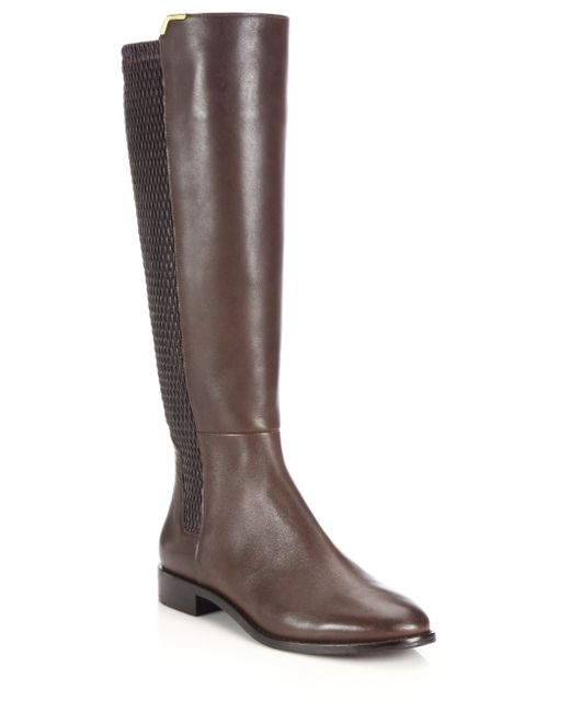 cole haan rockland leather knee high boots in brown