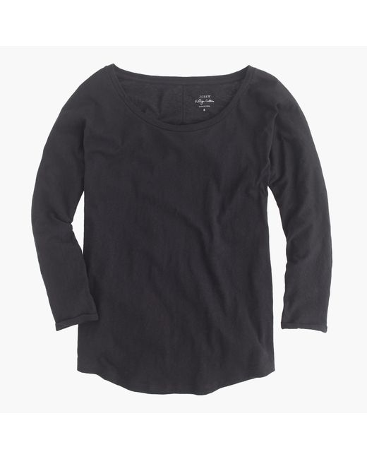 J.Crew | Black Vintage Cotton Dolman T-shirt | Lyst