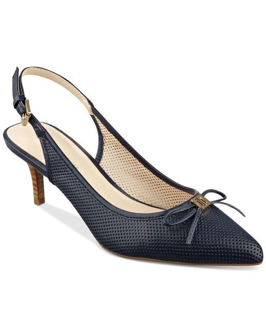 Womens Navy Slingback Closed Toe Shoes