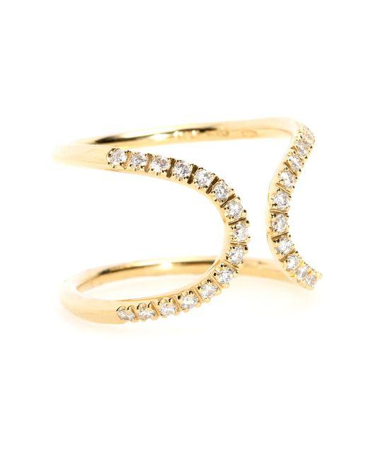 Roberto Marroni   Metallic Diamond & Gold Inverted Arch Ring   Lyst