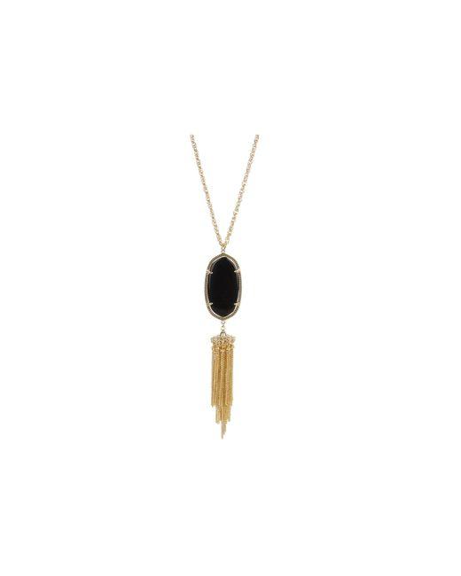 Kendra Scott   Black Rayne Necklace   Lyst