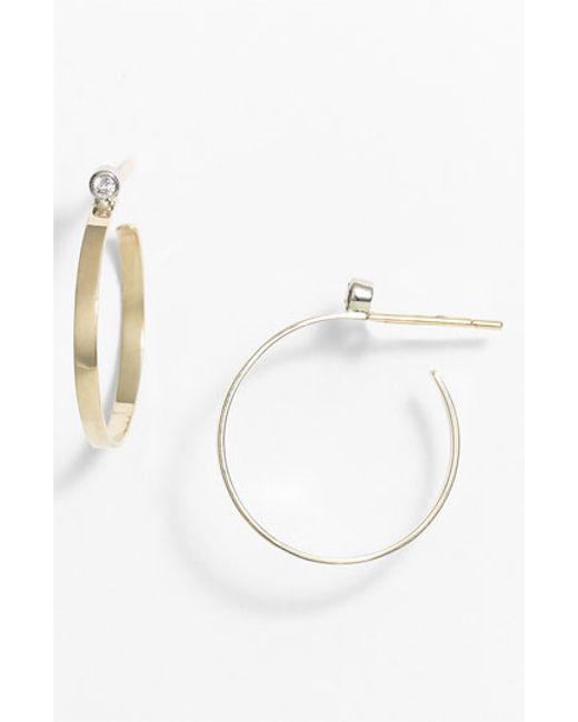 Lana Jewelry | Metallic Diamond Hoop Earrings | Lyst