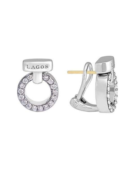 Lagos | Metallic 'enso - Circle Game' Diamond Stud Earrings | Lyst