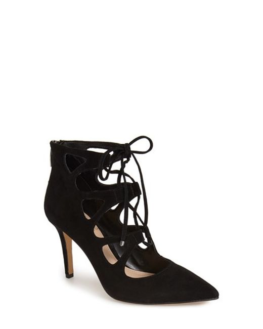 Vince Camuto | Black Bodell Lace-Up Pumps | Lyst