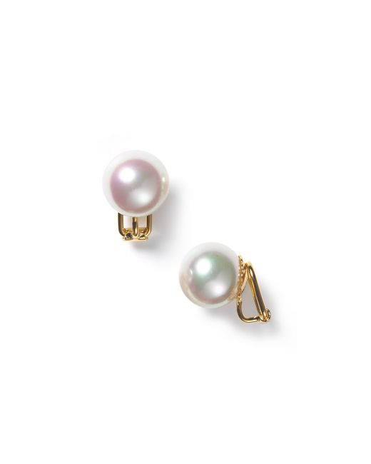 Majorica | 14mm White Simulated Pearl Clip On Earrings | Lyst