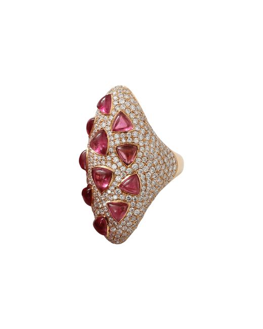Inbar | Red Rubelite And Diamond Ring | Lyst