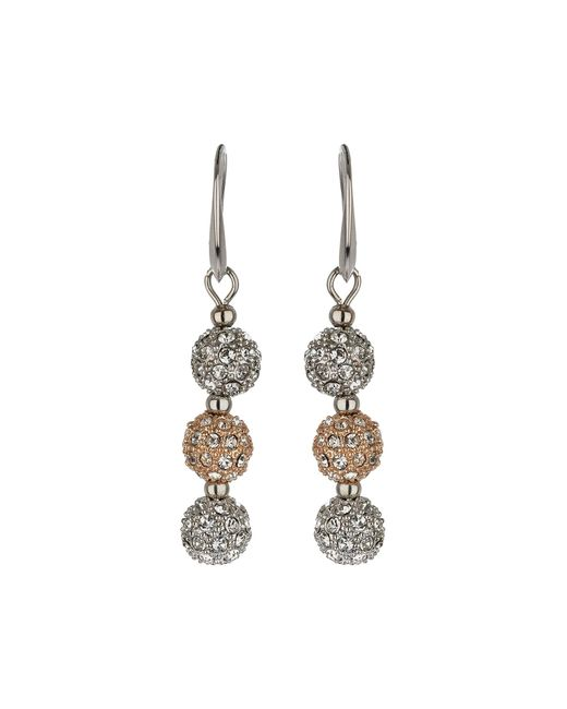 Mikey | White Crystal Small Heavy Earrings | Lyst