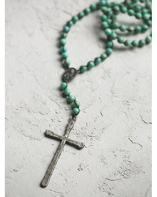 Free People | Green Wild Spirit Necklace | Lyst