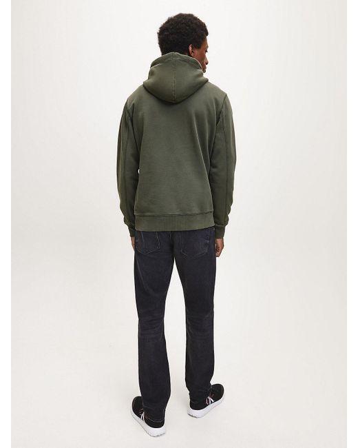 Calvin Klein Monogram Hoodie in het Green voor heren