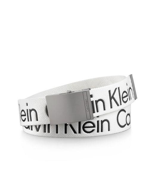 Calvin Klein | White Logo Belt for Men | Lyst