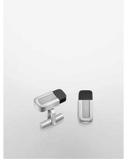 Calvin Klein | Metallic Platinum Magnet Cufflinks | Lyst