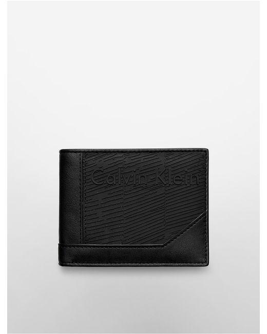 Calvin Klein   Black White Label Devin Rubber Passcase   Lyst