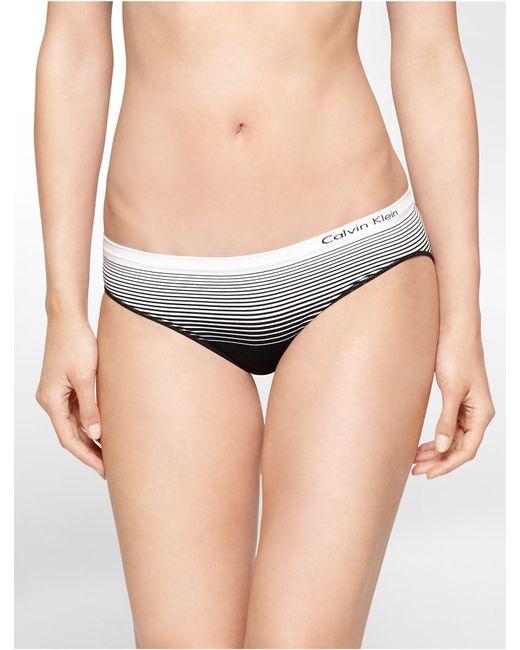 Calvin Klein | Black Underwear Seamless Illusions Striped Hipster | Lyst