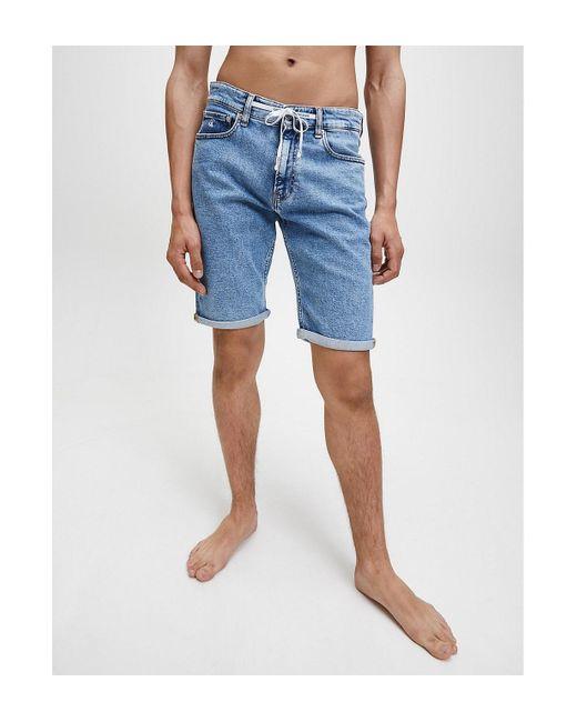 Calvin Klein Denim Korte Broek in het Blue voor heren