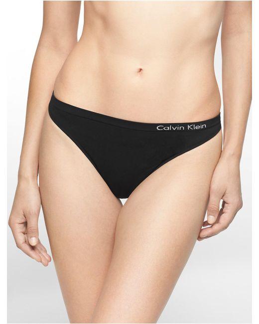 Calvin Klein | Black Underwear Pure Seamless Thong | Lyst
