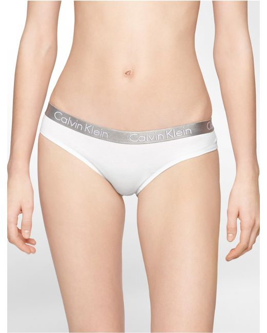 Calvin Klein | White Underwear Logo Cotton Stretch Thong | Lyst