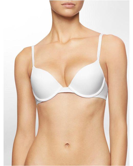 Calvin Klein   White Underwear Essentials Push-up Bra   Lyst
