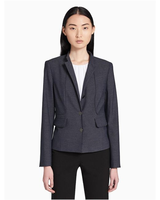 CALVIN KLEIN 205W39NYC - Blue Chambray Button-front Jacket - Lyst