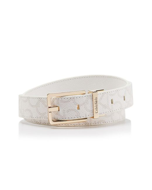 Calvin Klein | White Logo Reversible Belt for Men | Lyst
