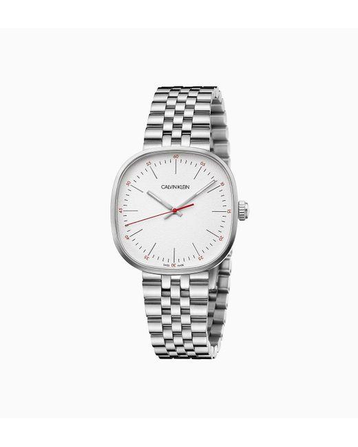 Calvin Klein Horloge - Squarely in het Metallic voor heren