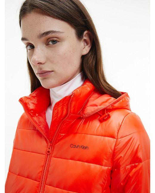 Calvin Klein Compact Lichtgewicht Donsjack in het Red