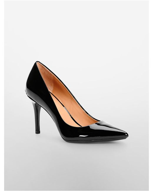 Calvin Klein | Black Gayle Patent Leather Pump | Lyst