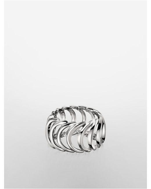 CALVIN KLEIN 205W39NYC - Metallic Platinum Body Ring - Lyst