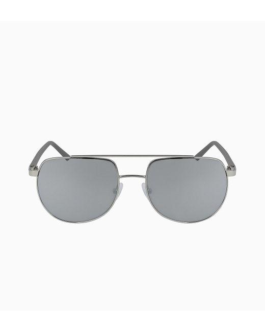 Calvin Klein Aviator Zonnebril Ck20301s in het Gray