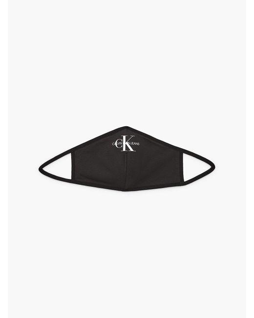 Couvre-visage en coton lastique Calvin Klein en coloris Black