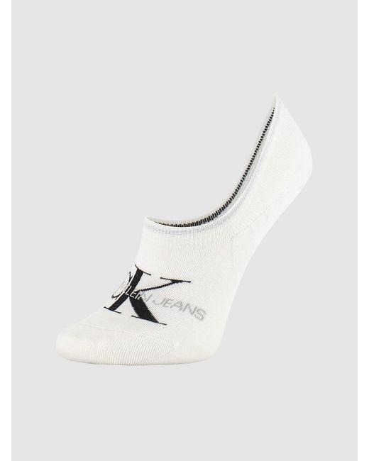 Calvin Klein Footies Met Logo in het White
