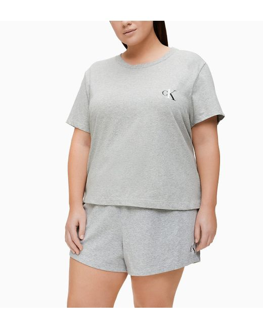 Camiseta de estar por casa talla plus - CK ONE Calvin Klein de color Gray